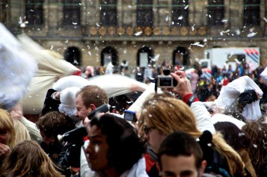 Pillow Fight in Dam Square