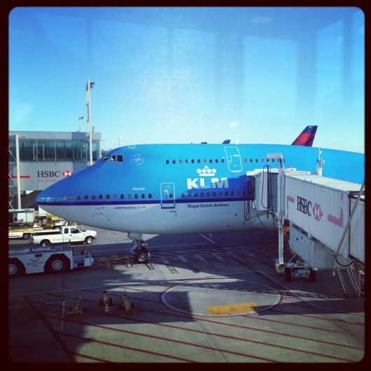 So happy to see that blue plane and to be getting onto it
